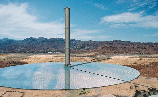 دستیابی به هندسه با بازده بالا برای نیروگاه های دودکش خورشیدی